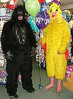 gorilla and chicken balloon delivery