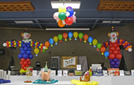 balloon sculpture backdrop